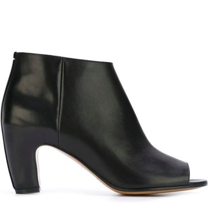 16-17AW MMF066 OPEN TOE ANKLE BOOTS