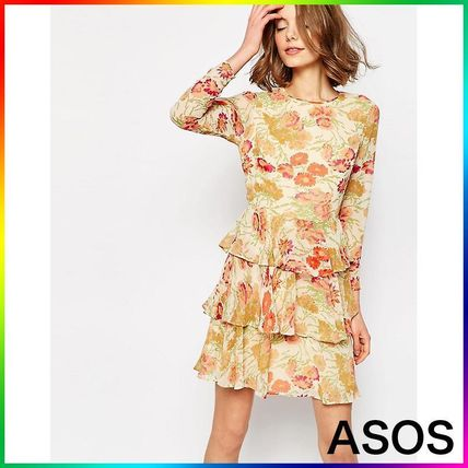 ASOS Tiered Dress in Floral Print 関税/送料込