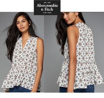 Abercrombie & Fitch★white patternスリーブSサイズ即発可SALE