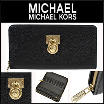 【人気即発】Michael Kors Hamilton  Zip Around Leather Wallet