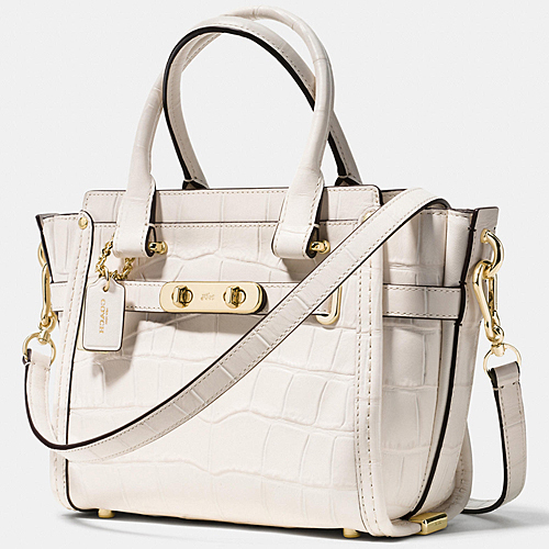 COACH★セール☆SWAGGER 21 CARRYALL CROC EMBOSS LEATHER 37997