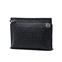 【LOEWE】バッグ☆T POUCH ENGRAVED CALF BLACK★2016秋冬新作♪
