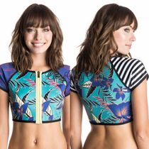 【ROXY】Polynesia Zipped Crop Rash Vest/ラッシュ