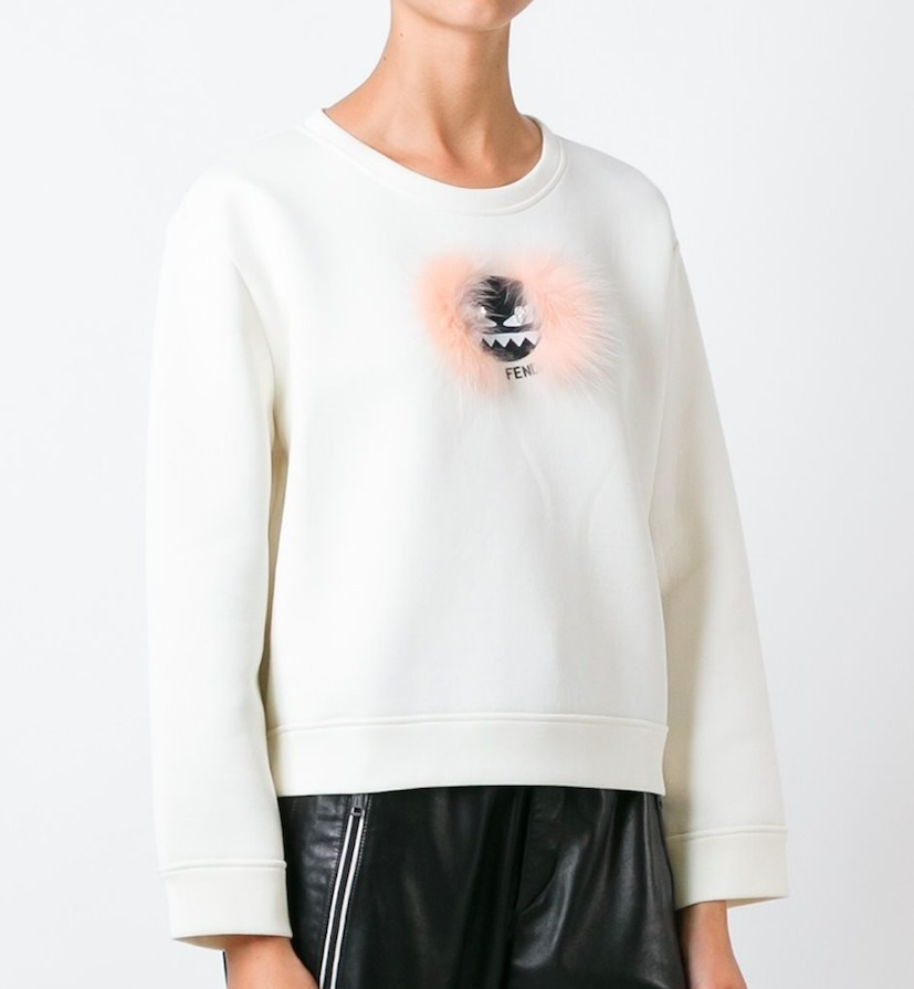 FE1041 BAG BUGS CROPPED SWEATSHIRT