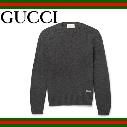 GUCCI (グッチ) Wool Cashmere Blend Sweater グレイセーター