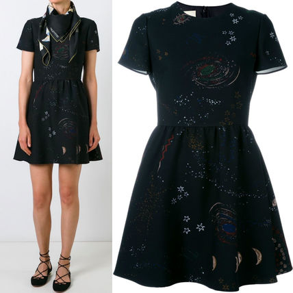 "16-17AW V336 ""ASTRO COUTURE"" FLARE DRESS"