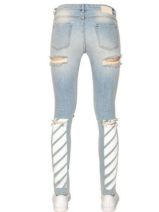 関税送料込 OFF WHITE COTTON DENIM JEANS