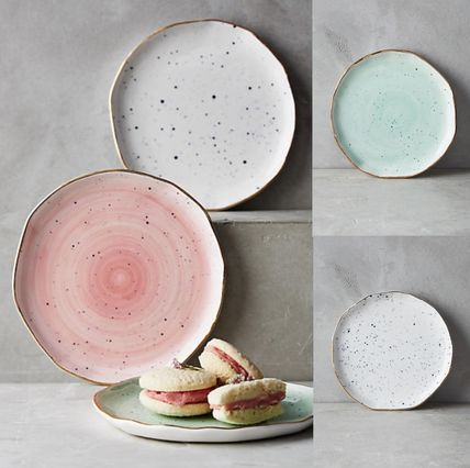 Anthropologie * pattern color plate 1 2 piece set