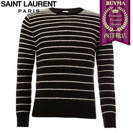 16/17秋冬入荷!┃SAINT LAURENT┃STRIPED CREW NECK SWEATER
