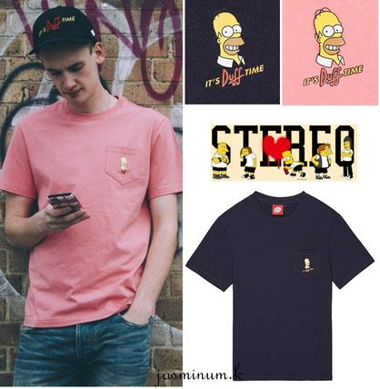 16SS◆STEREO × Simpsonsコラボ Duff Beer Pocket Tee ◆S〜XL