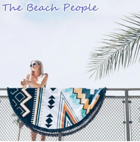 The Beach PeopleビーチピープルラウンドタオルTHE PALM SPRINGS