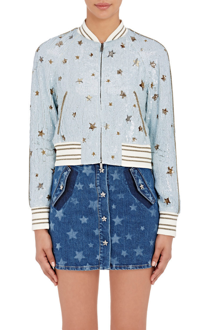 "16-17AW V369 ""STAR STUDDED"" SEQUIN EMBLLISHED BOMBER JACKET"