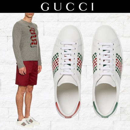 2016-17AW  大人のホワイト GUCCI  Aceスニーカー 送料・関税込