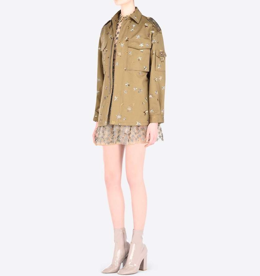 """16-17AW V371 """"STAR STUDDED"""" EMBROIDERED FIELD JACKET"""