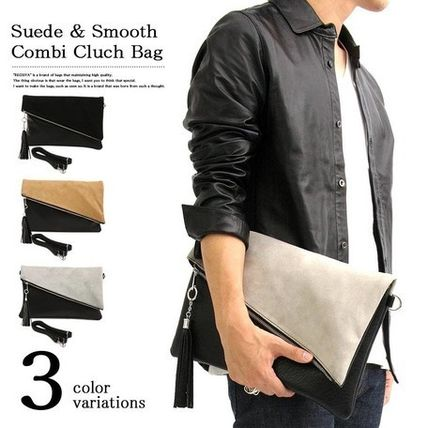 Shipping with a Tassel suede duo clutch bag