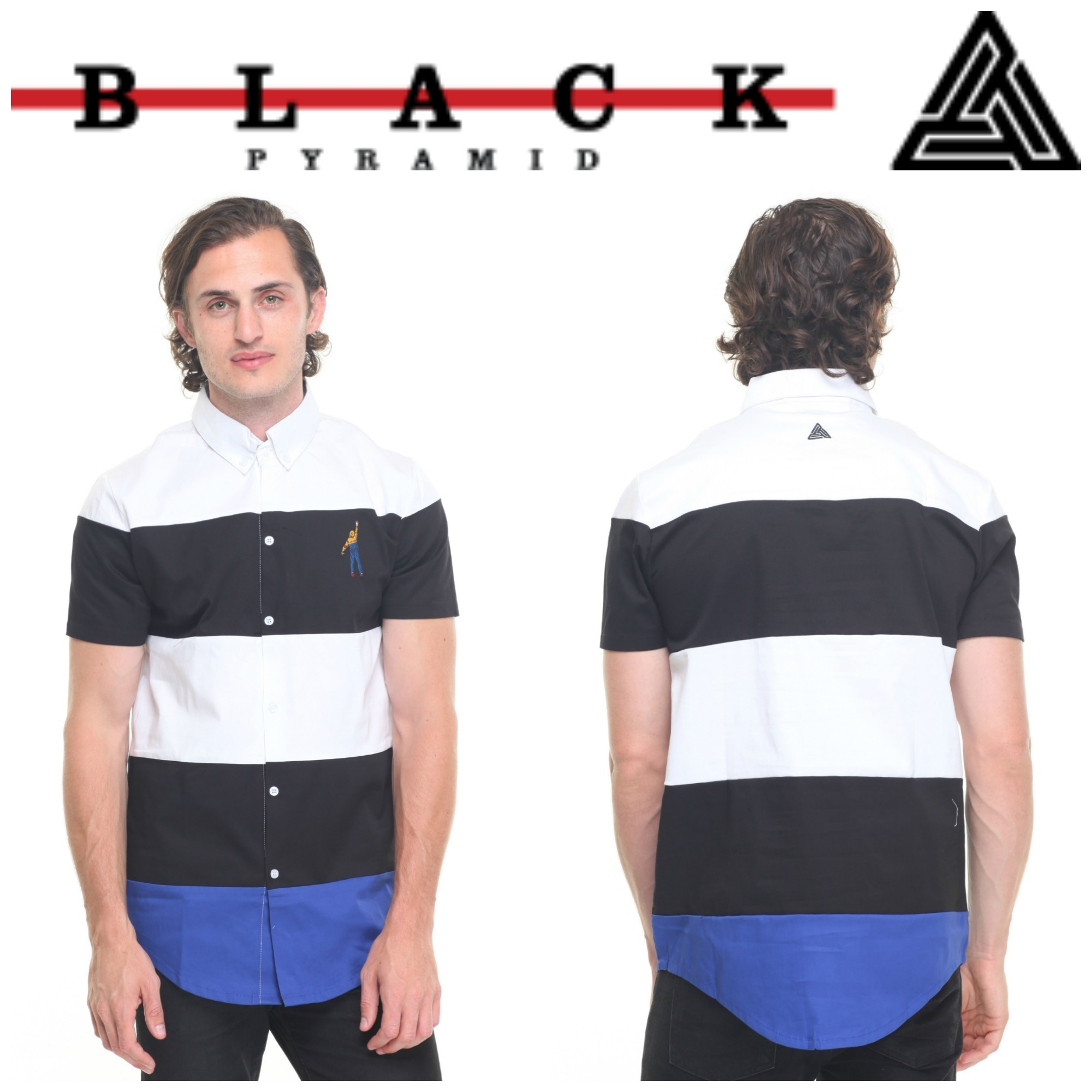 【Chris Brown愛用】☆レア☆Striped Color Block Button Down