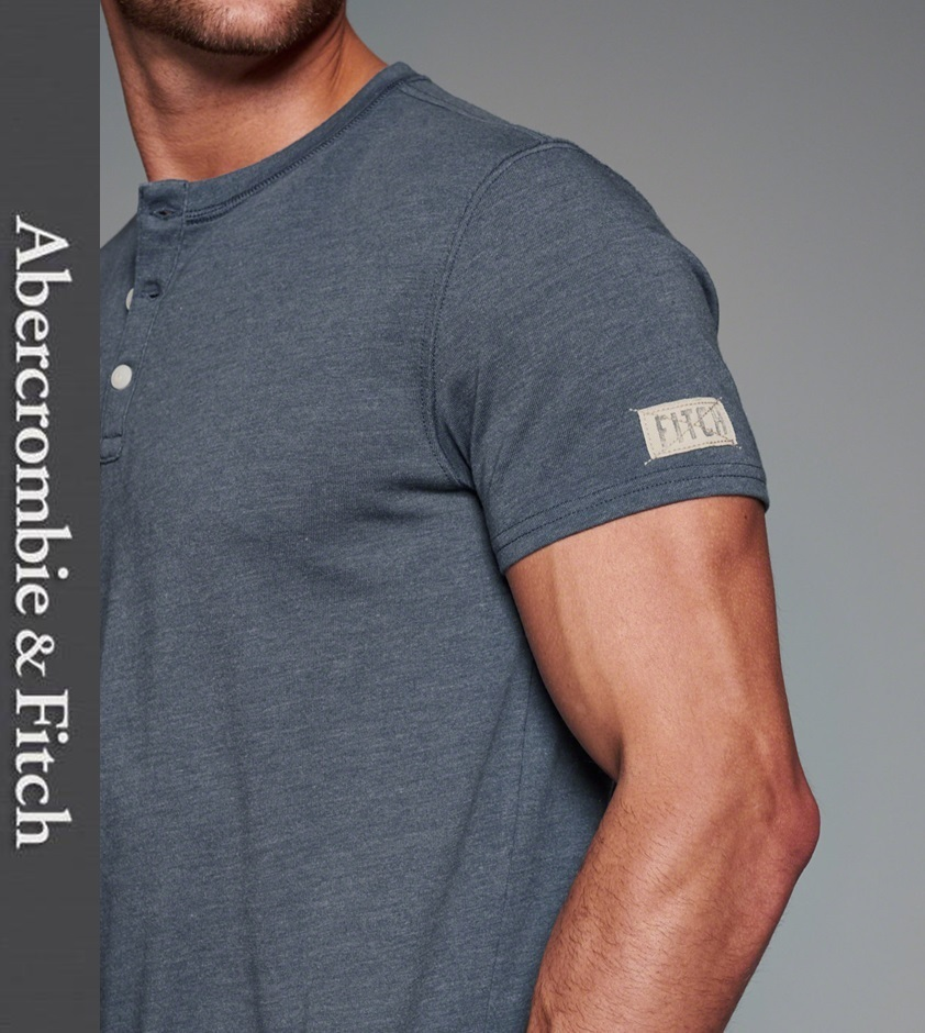 ★即発送★在庫あり★A&F★Muscle Fit Logo Graphic Henley★