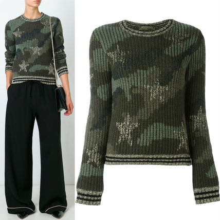 """16-17AW V399 """"STAR STUDDED"""" CAMOUFLAGE SWEATER"""