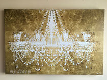 特大♪Oliver Gal 'Dramatic Entrance Gold '(114.3×76.2)