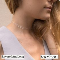 送税込【Layered And Long】★Dainty Chain Choker Necklace