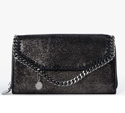 【関税負担】 STELLA MCCARTNEY ZIP AROUND WALLET BLACK