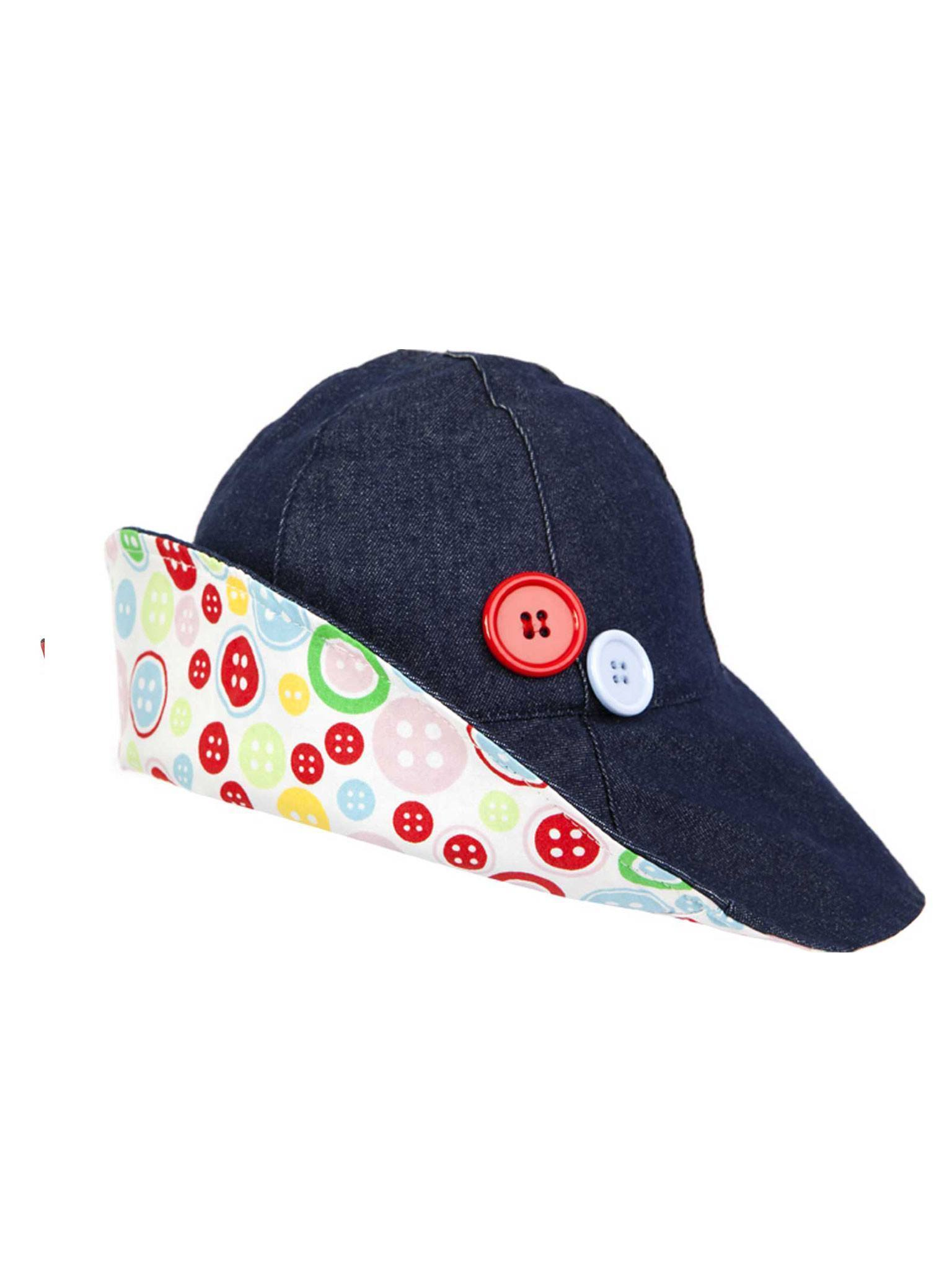 oobi ウーヴィー BRIDGETTE LARGE BRIM DENIM & BUTTONS HAT