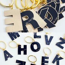 大人気★RH California☆Alphabet Key Ring NAVY☆ロンハーマン