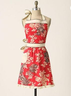 Anthropologie 3-D Toile apron