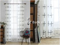 送込み_UO*Assembly Home Plus Sign Curtain 2枚セット♪