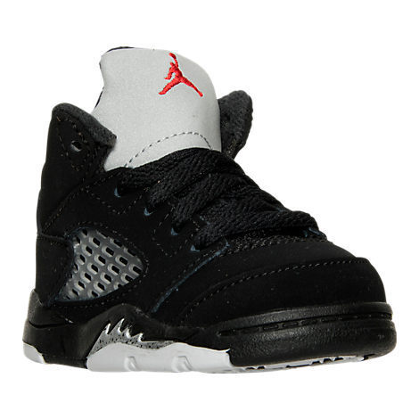 SS16 AIR JORDAN RETRO 5 OG TD BLACK METALLIC 10-16cm送料無料