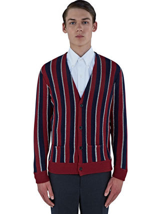 MEN'S LAME STRIPED KNIT CARDIGAN ニットカーディガン