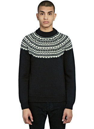 MEN'S FAIR ISLE KNITTED SWEATERフェアアイル柄ニットセーター