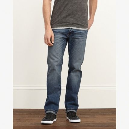 Abercrombie & Fitch デニム・ジーパン 【国内発送】CLASSIC STRAIGHT BUTTON FLY JEANS★M.WASH30×30