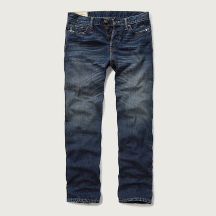 Abercrombie & Fitch デニム・ジーパン 【国内発送】CLASSIC STRAIGHT BUTTON FLY JEANS★M.WASH30×30(2)