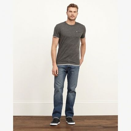 Abercrombie & Fitch デニム・ジーパン 【国内発送】CLASSIC STRAIGHT BUTTON FLY JEANS★M.WASH30×30(3)