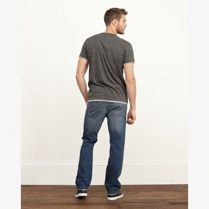 Abercrombie & Fitch デニム・ジーパン 【国内発送】CLASSIC STRAIGHT BUTTON FLY JEANS★M.WASH30×30(5)