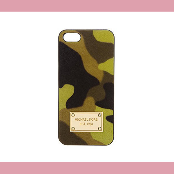 【MICHAL Michael Kors】iPhone5ケース Camouflage HairCurf AL