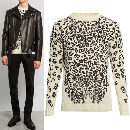 16-17AW SLP263 PANTHER PRINTED SWEATER