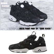 REEBOK★INSTAPUMP FURY SPECKLED★兼用★22~29cm★黒