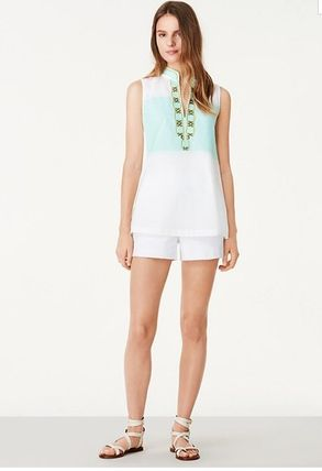 Tory Burch TESSA SLEEVELESS TUNIC