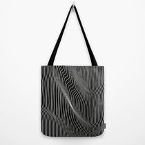 日本即納★【Society6】Minimal curves black  トートバッグ