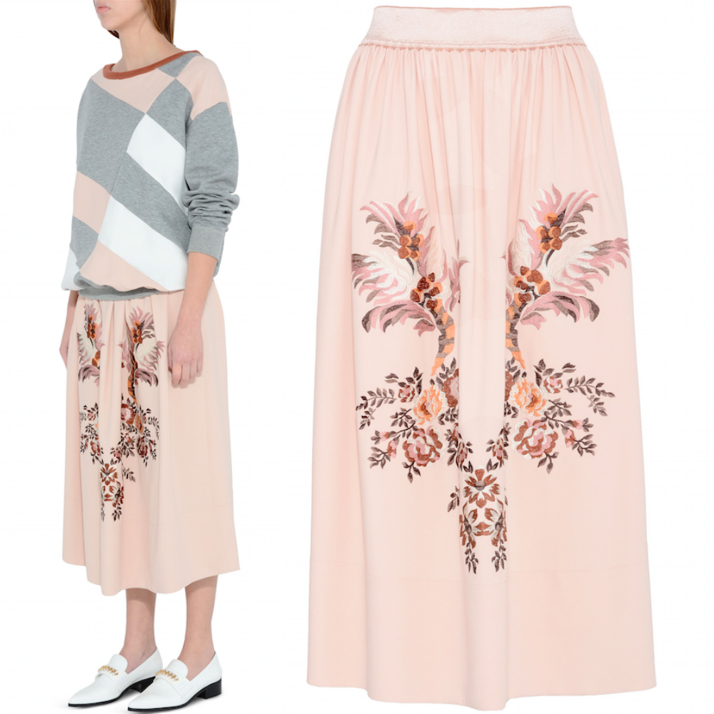 16-17AW SM290 'LUCY' EMBROIDERED SKIRT
