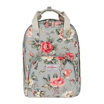 [Cath Kidston正規品] MULTI POCKET BACKPACK GARDEN ROSE GREY