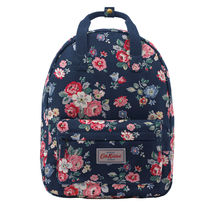[Cath Kidston正規品] SMALL COTTON BACKPACK FOREST BUNCH NAVY