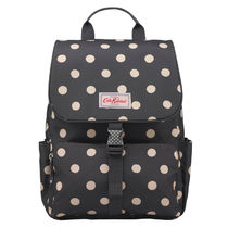 [Cath Kidston正規品] BUCKLE BACKPACK BUTTON SPOT CHARCOAL