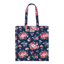 [Cath Kidston正規品] BOOK BAG COTTON FOREST BUNCH NAVY