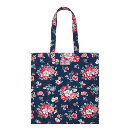 Cath Kidston Eagle BOOK BAG COTTON FOREST BUNCH NAVY