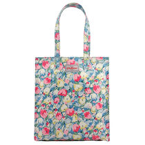 [Cath Kidston正規品] BOOK BAG O/C PAINTED TULIPS SKY BLUE