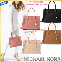 【NEW☆日本未入荷】Mercer LARGE Bonded-Leather Tote 4色