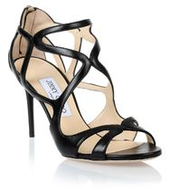 Leslie black leather sandal レザーサンダル